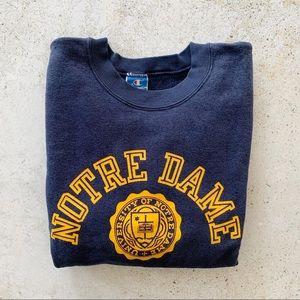 🌾 VINTAGE NOTRE DAME Sweatshirt size S